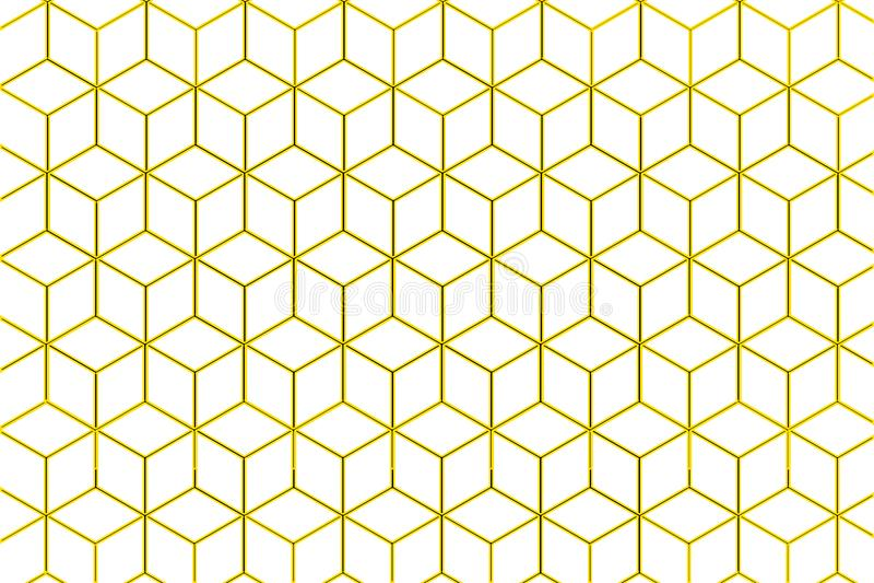 Honigkammillustration auf weißem Hintergrund stock abbildung