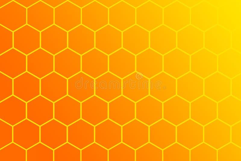 Honigkammillustration auf weißem Hintergrund lizenzfreie abbildung