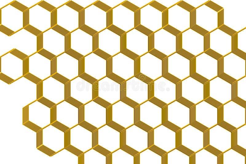 Honigkammillustration auf weißem Hintergrund vektor abbildung