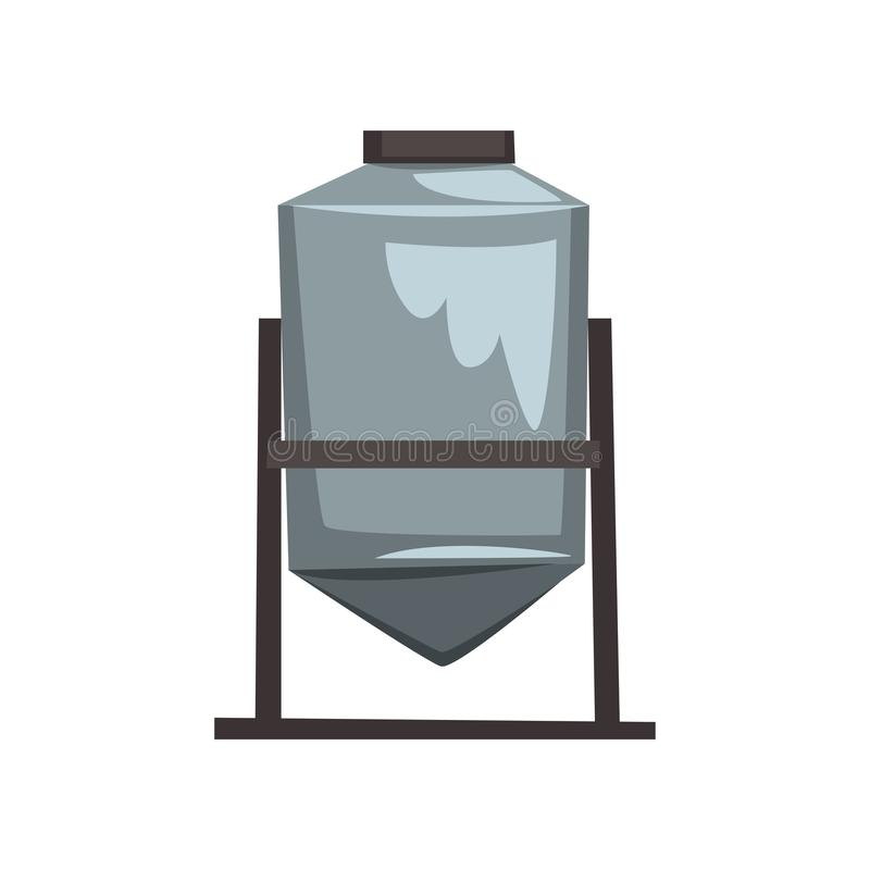 Honigspeicher-, -filtrations- und -pasteurisierungsausrüstung vector Illustration auf einem weißen Hintergrund stock abbildung