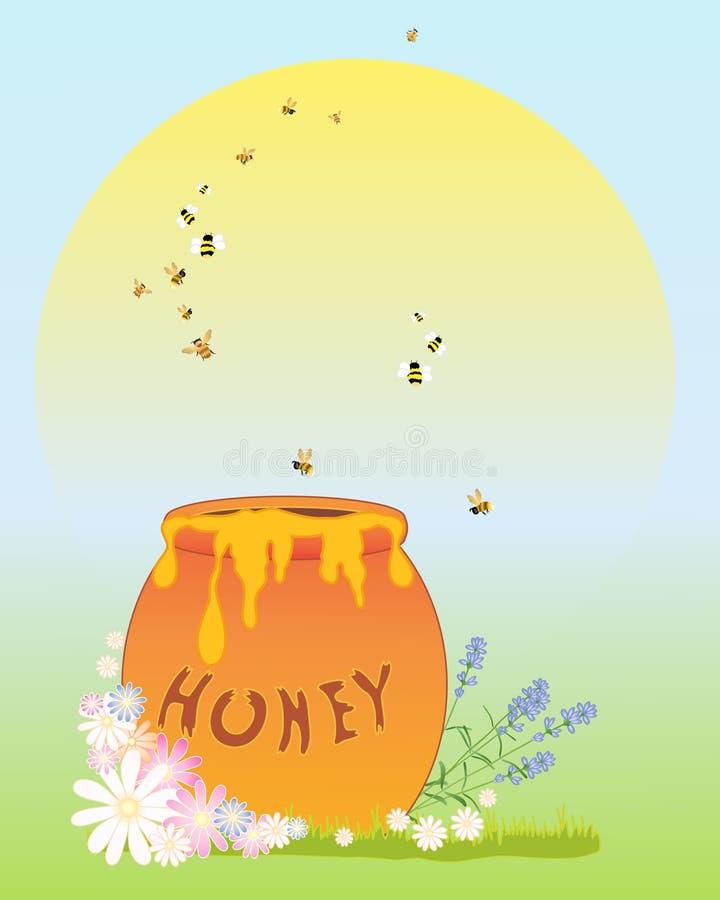 Honigtopf stock abbildung