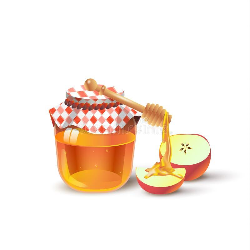 Honing en Appel vector illustratie