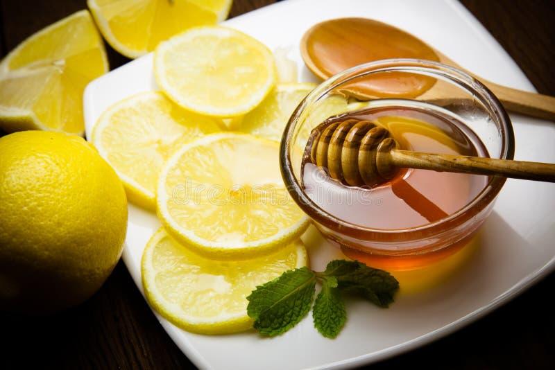 Honing en citroen royalty-vrije stock foto's