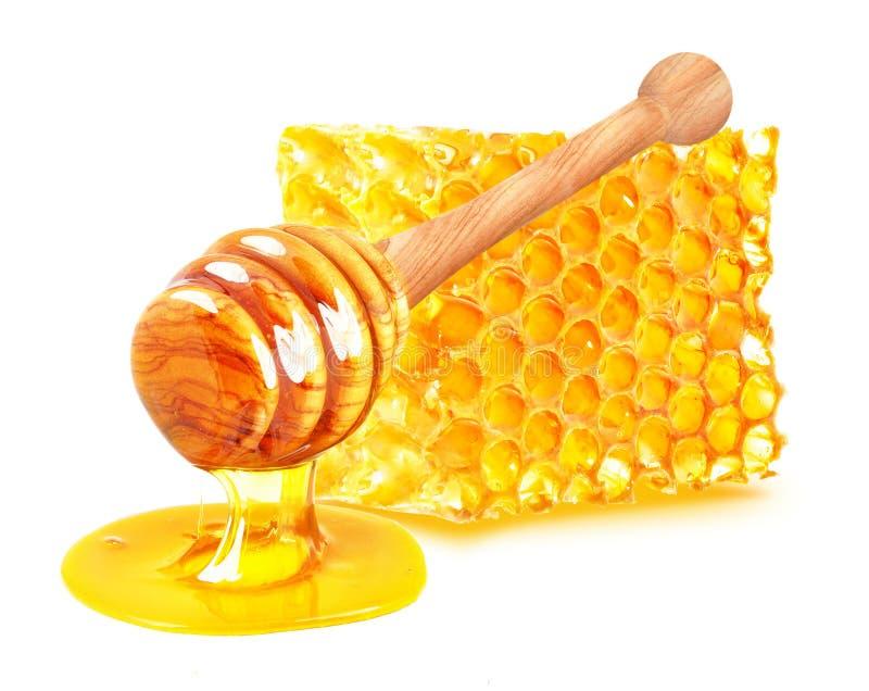 Honing en Honingraat royalty-vrije stock foto