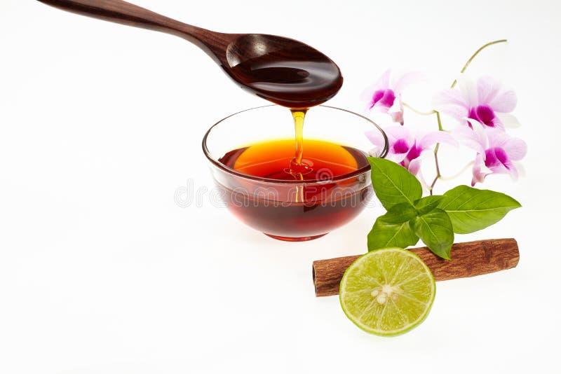 Honing met ingrediënt stock fotografie