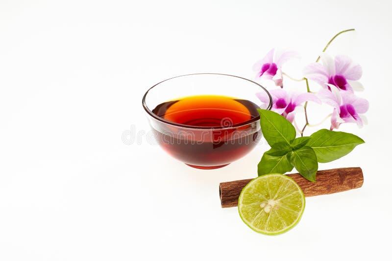 Honing met ingrediënt stock foto's