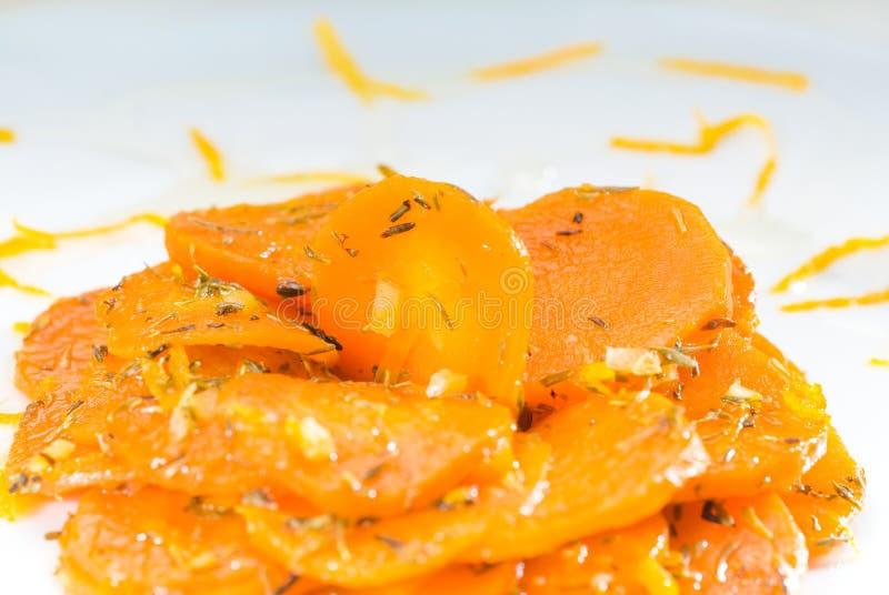 Honing verglaasde wortelen stock foto's