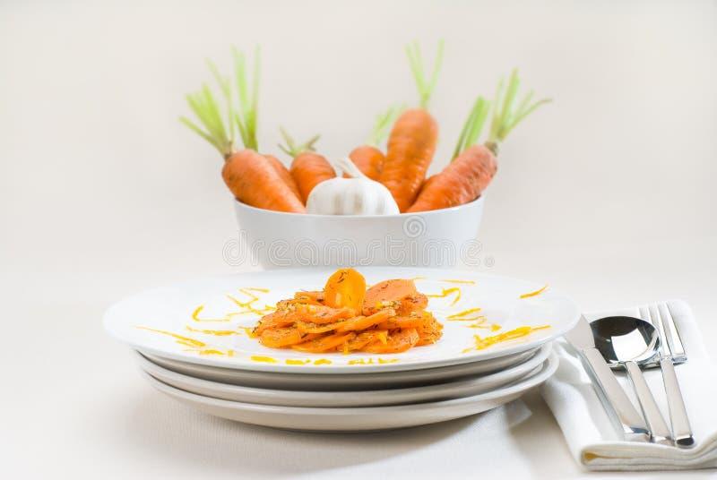 Honing verglaasde wortelen royalty-vrije stock afbeelding
