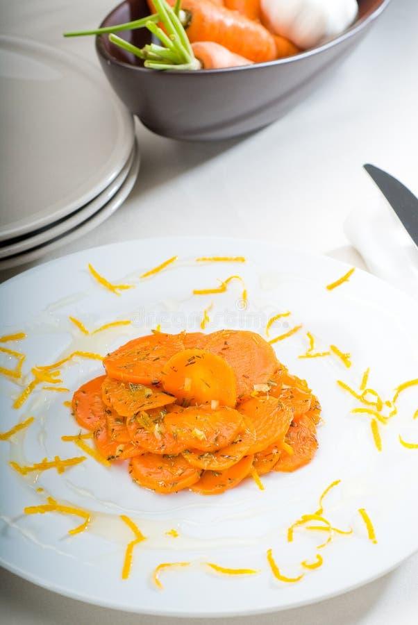 Honing verglaasde wortelen stock fotografie