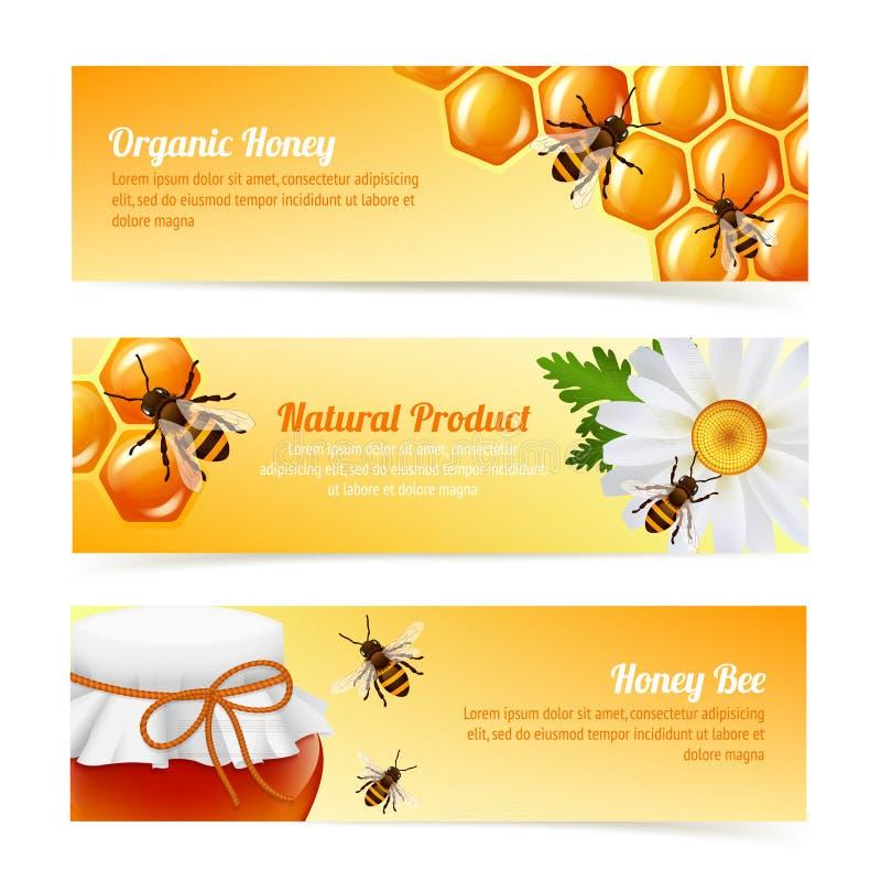 Honingbijbanners stock illustratie