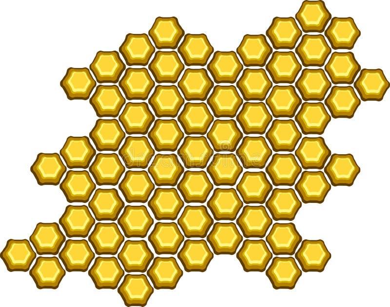 Download Honingraat vector illustratie. Illustratie bestaande uit borstel - 282715