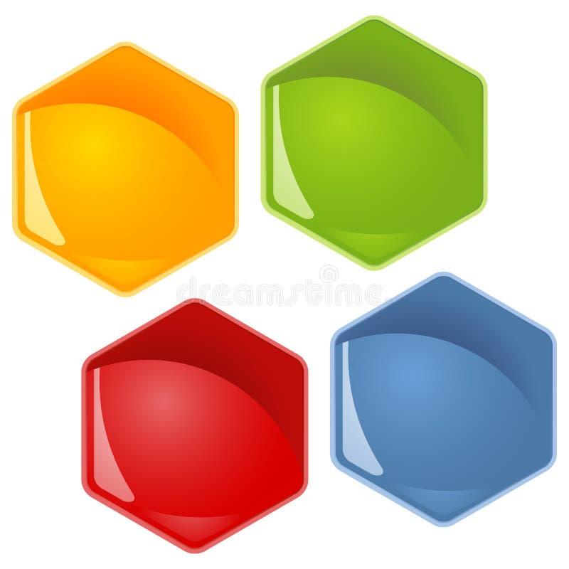 honingraat - 4 kleuren stock illustratie