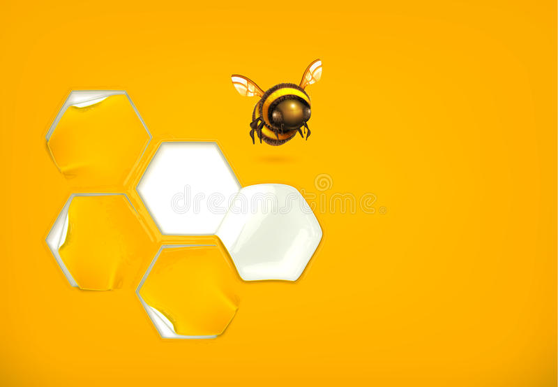 Honingraatachtergrond stock illustratie