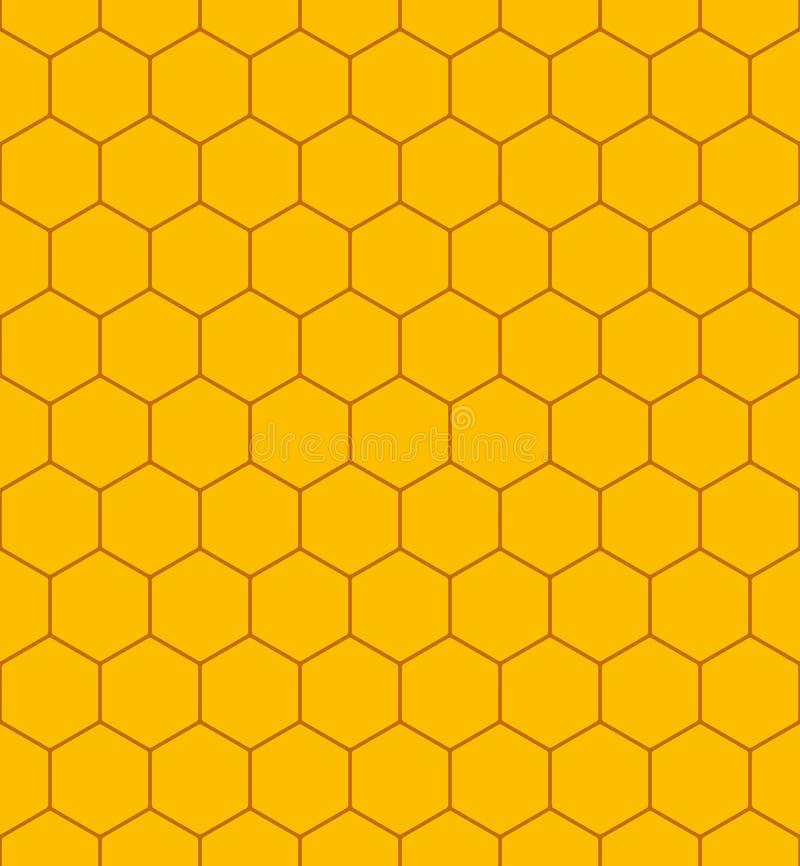 Honingraatpatroon stock illustratie