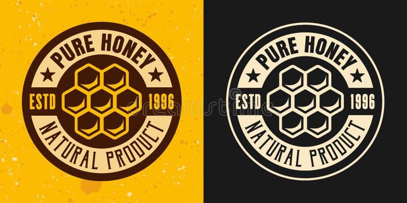 Honingraatreeks van twee gekleurd stijlen vectorembleem stock illustratie