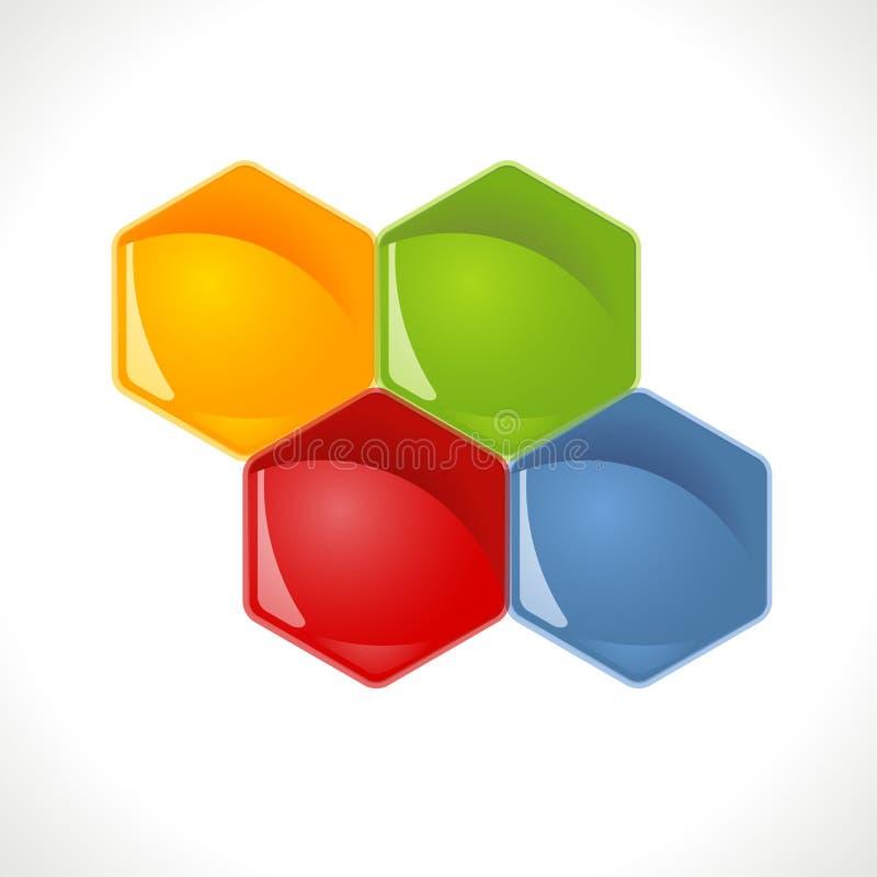Honingratensymbolen - 4 Opties vector illustratie