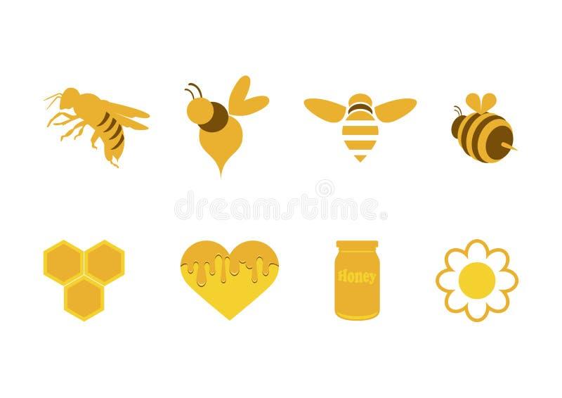 Honings eenvoudige pictogrammen geplaatst vector royalty-vrije illustratie