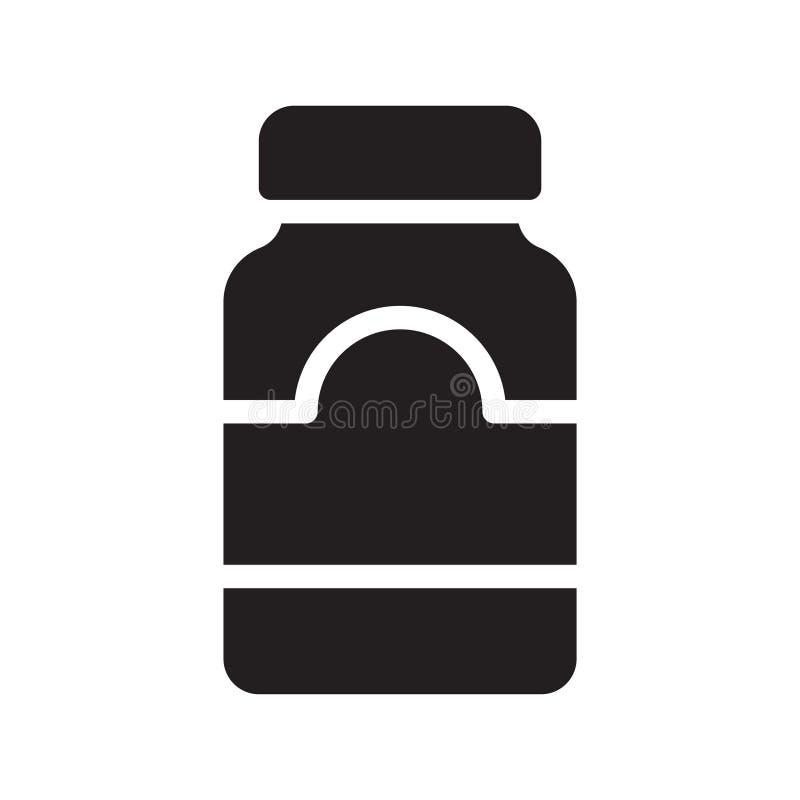 Honings glyph vlak vectorpictogram stock illustratie