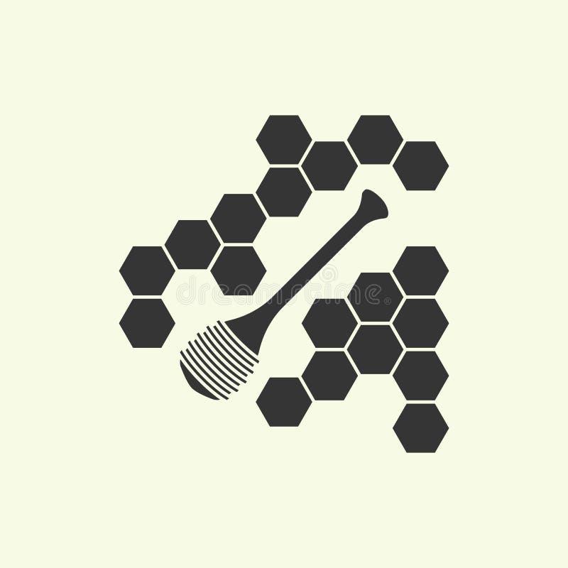 Honingsdipper concept stock illustratie