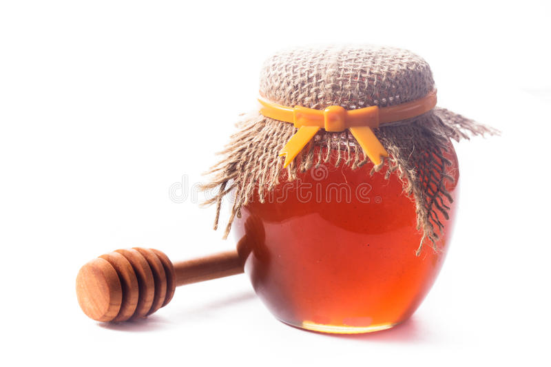 Honingsdruppel royalty-vrije stock foto