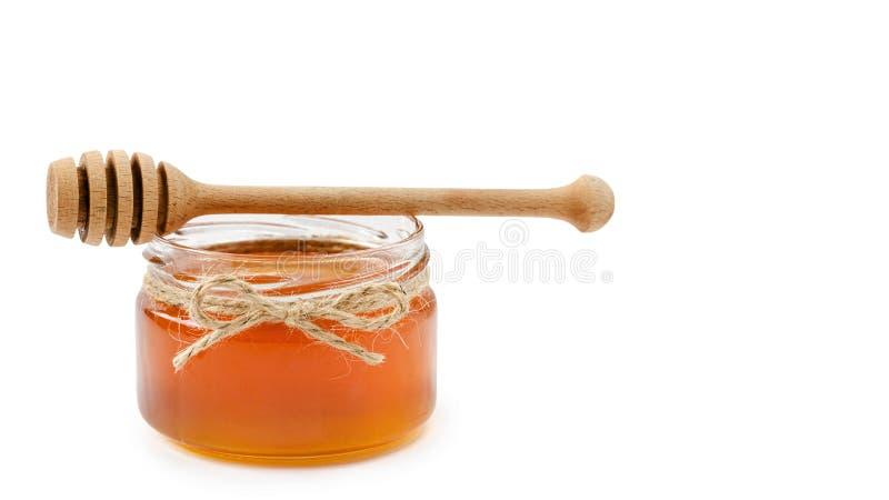 Honingspot op geïsoleerde witte achtergrond, kabel exemplaarruimte, malplaatje royalty-vrije stock foto's