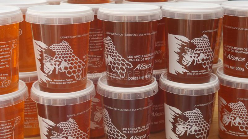 Honingspotten van Alsac, Frankrijk stock foto