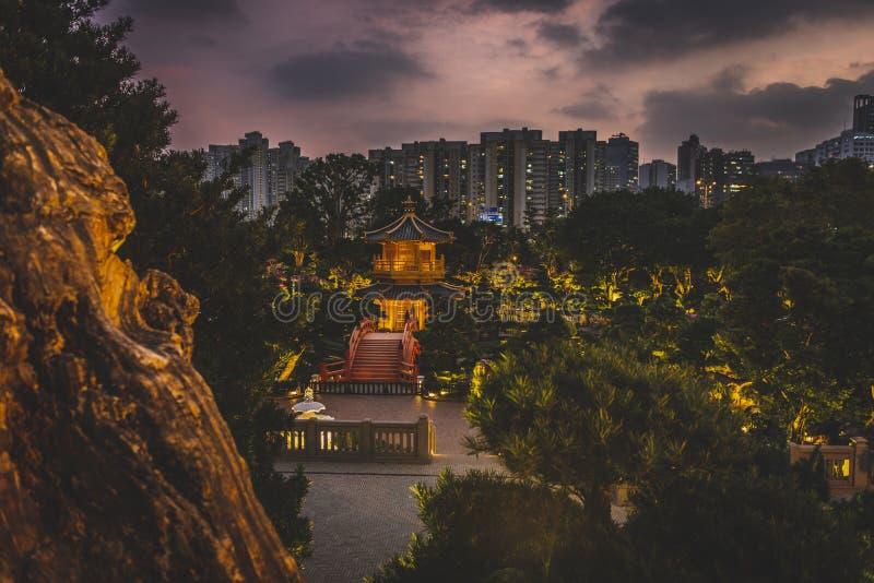 Honk Kong, novembre 2018 - parc de Nan Lian Garden photographie stock libre de droits