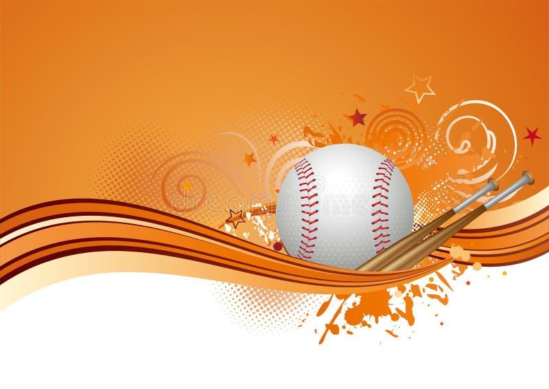 honkbal achtergrond stock illustratie