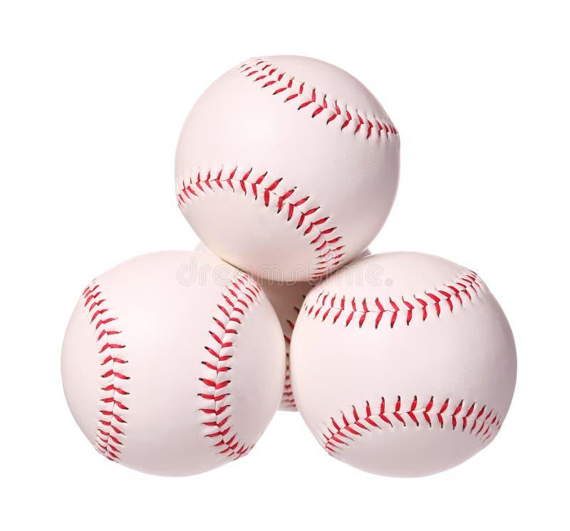 honkbal Ballen op wit worden geïsoleerd dat stock afbeelding