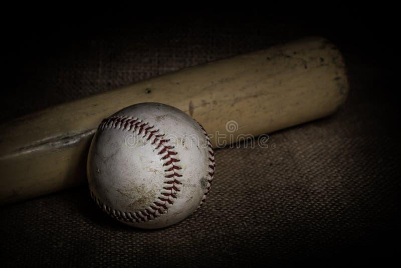 Honkbal en Knuppel stock fotografie