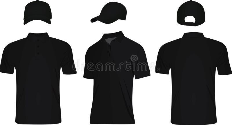 Honkbal GLB en polot-shirt stock illustratie
