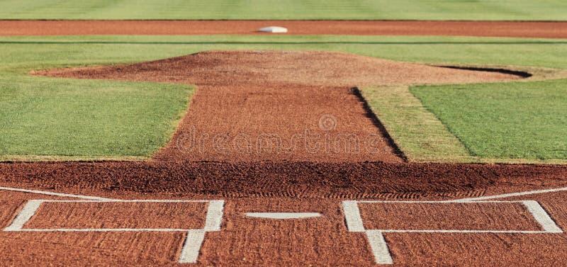 Honkbal infield royalty-vrije stock afbeeldingen