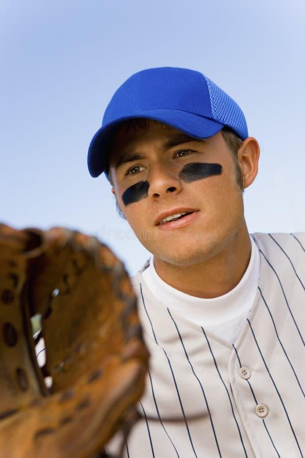 Honkbal infielder stock foto