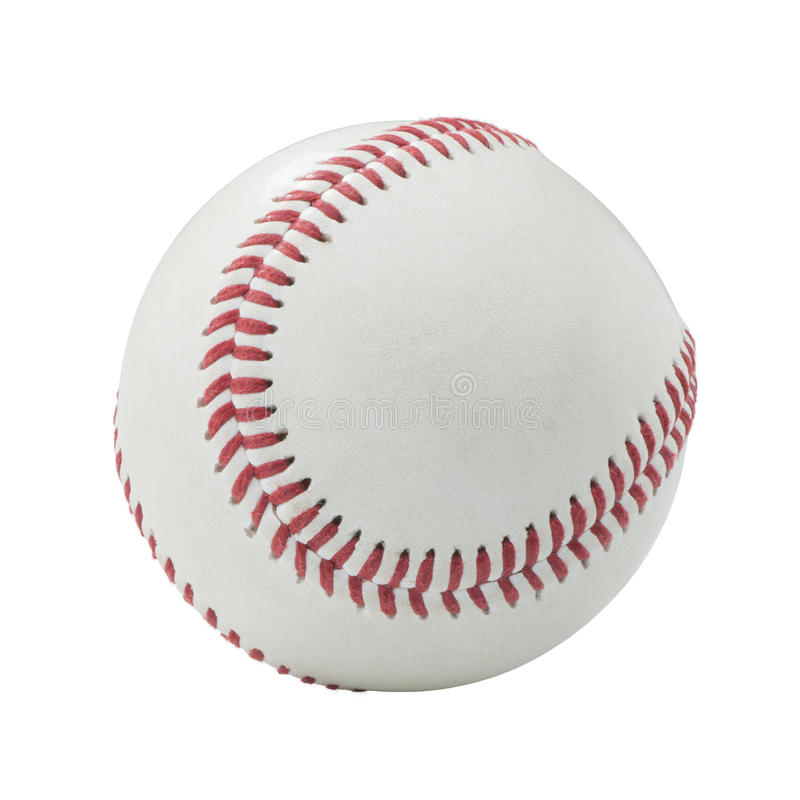 Honkbal op witte achtergrond stock fotografie