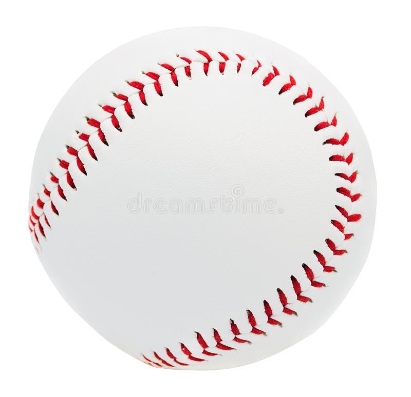 Honkbal op witte achtergrond met het knippen van weg wordt geïsoleerd die royalty-vrije stock afbeelding