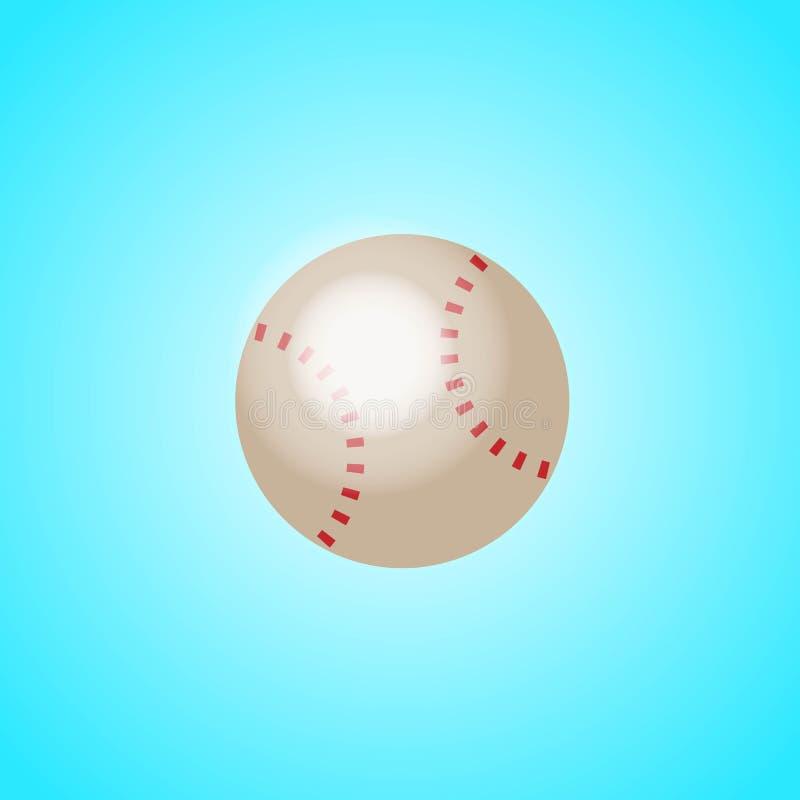 Honkbal van eenvoudige rode en witte kleur royalty-vrije illustratie