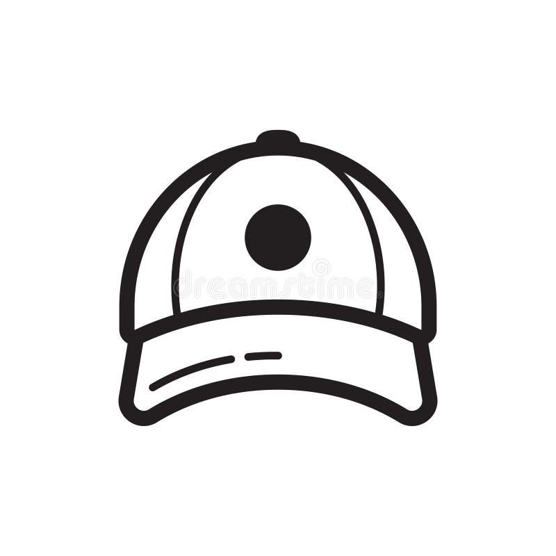Honkbalglb pictogram Vlak stijlontwerp royalty-vrije illustratie