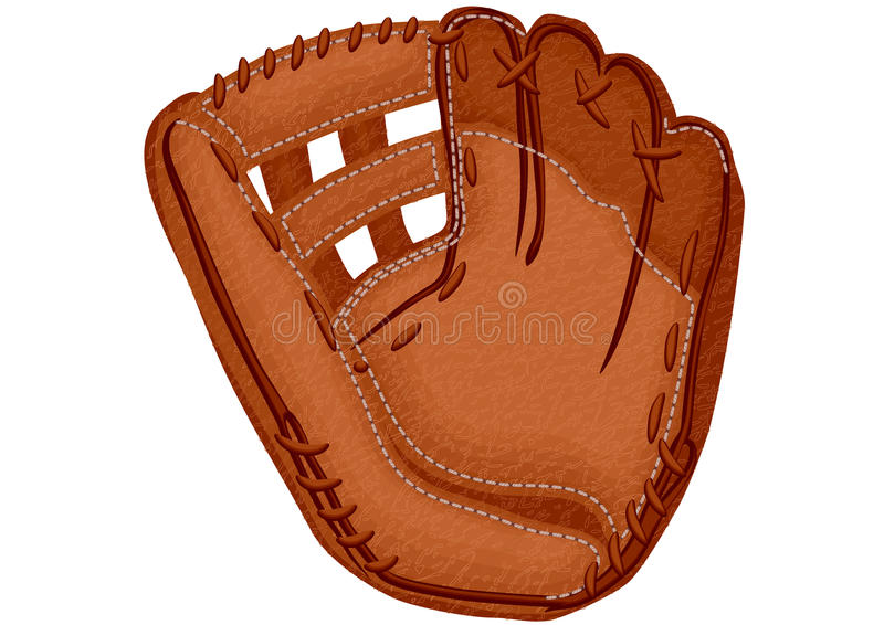 Honkbalhandschoen stock afbeelding