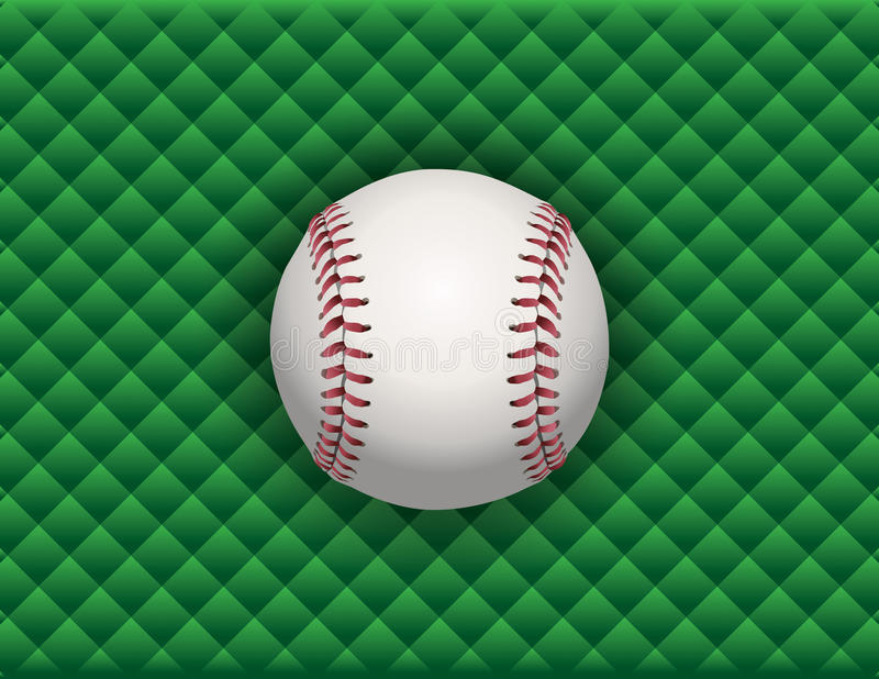 Honkbalillustratie op een Groene Geruite Achtergrond vector illustratie
