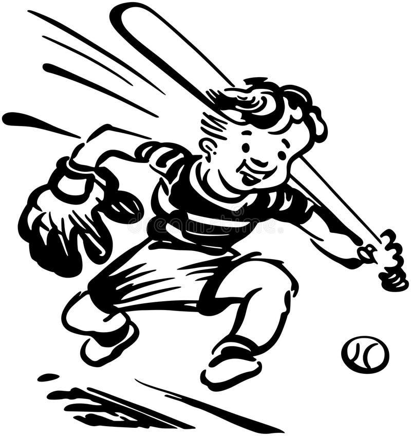 Honkbaljong geitje vector illustratie