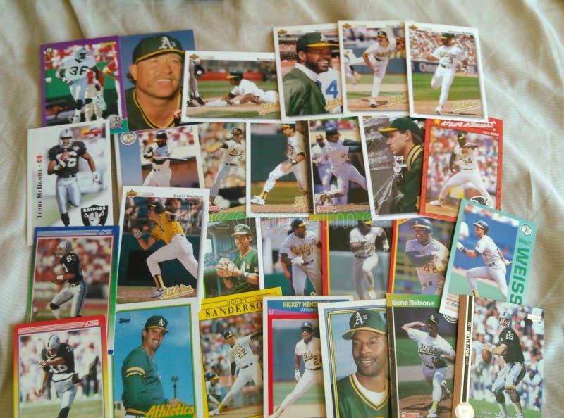 Honkbalkaarten stock afbeeldingen