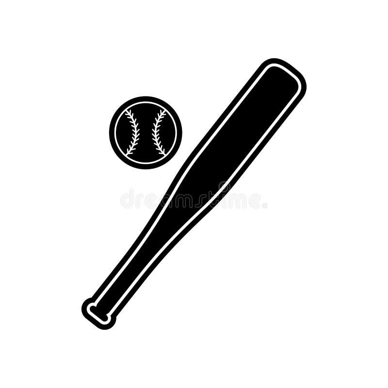 Honkbalpictogram Element van onderwijs voor mobiel concept en Web apps pictogram Glyph, vlak pictogram voor websiteontwerp en ont vector illustratie