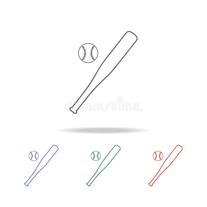 Honkbalpictogram Elementen van onderwijs multi gekleurde pictogrammen Grafisch het ontwerppictogram van de premiekwaliteit Eenvou vector illustratie