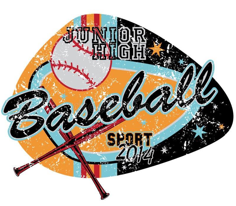 Honkbalspel royalty-vrije illustratie
