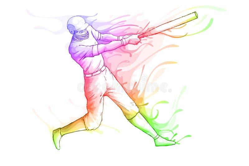 Honkbalspeler vector illustratie