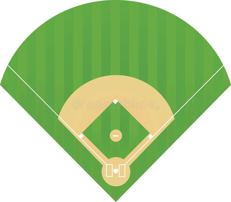 Honkbalveld stock illustratie