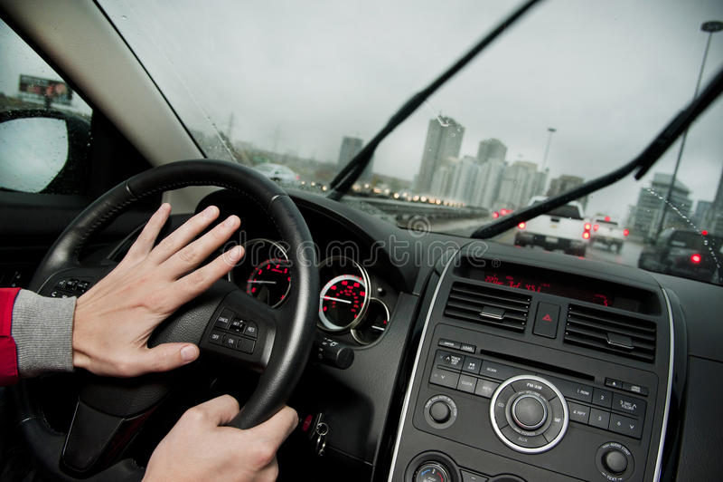 Honking na autostradzie fotografia stock