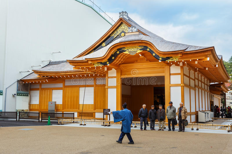 Honmaru Palace at Nagoya castle. Nagoya, Japan - November 21 2013: The Nagoya castle's former palace buildings are reconstructed next to the main keep until royalty free stock image