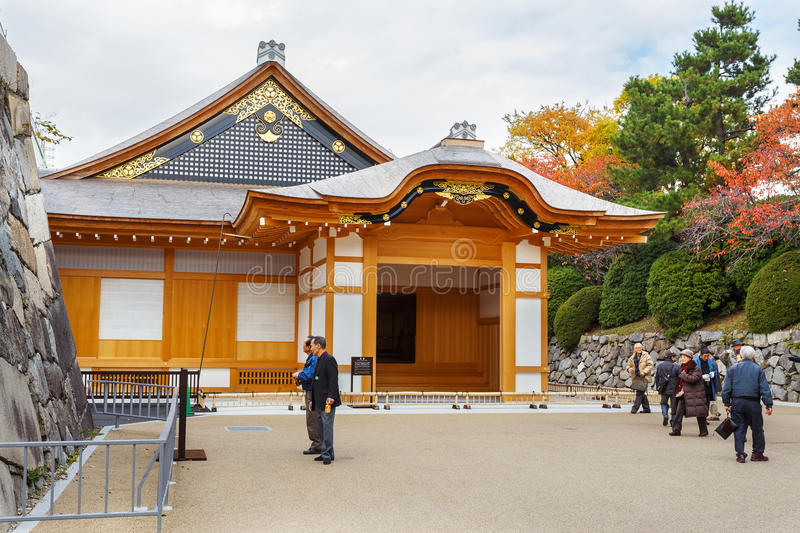 Honmaru Palace at Nagoya castle. Nagoya, Japan - November 21 2013: The Nagoya castle's former palace buildings are reconstructed next to the main keep until royalty free stock images
