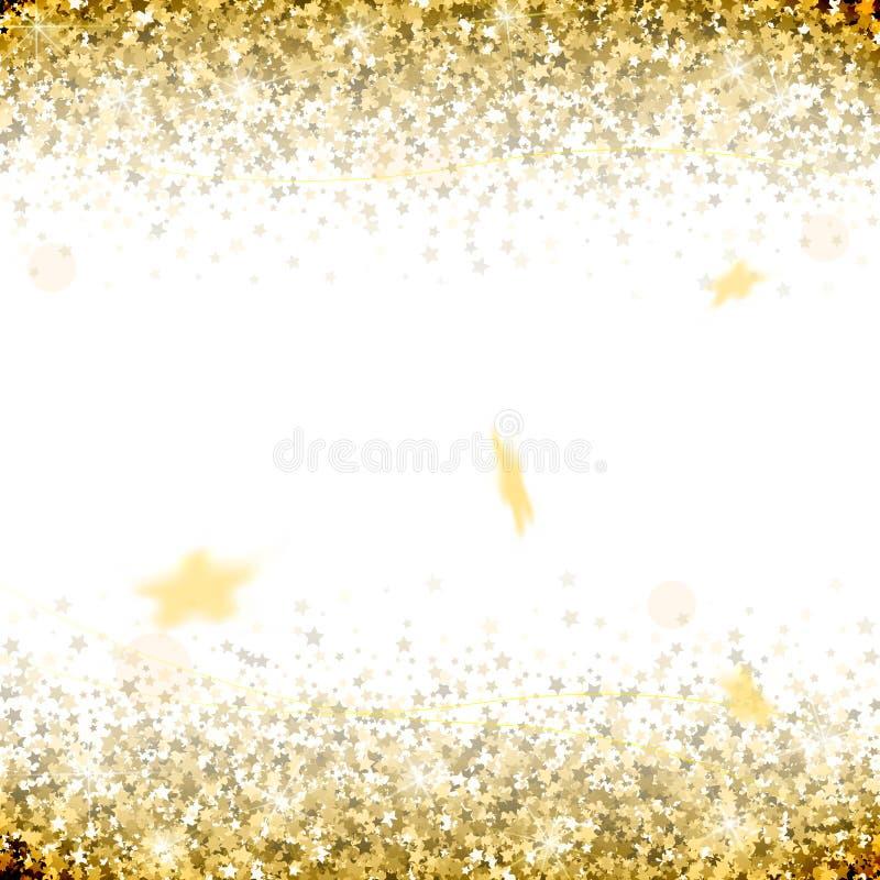 Honnör av guld- stjärnor på en vit bakgrund vektor illustrationer